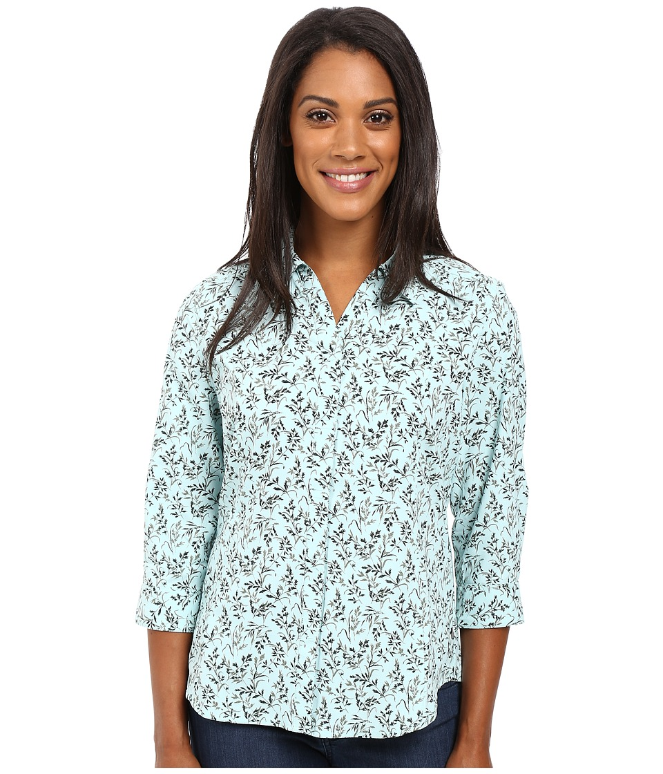 Royal Robbins - Expedition Stretch 3/4 Sleeve Print (Cove) Women's Clothing