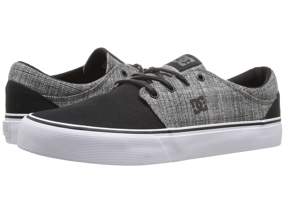 DC - Trase TX SE (Black/Heather Grey) Skate Shoes