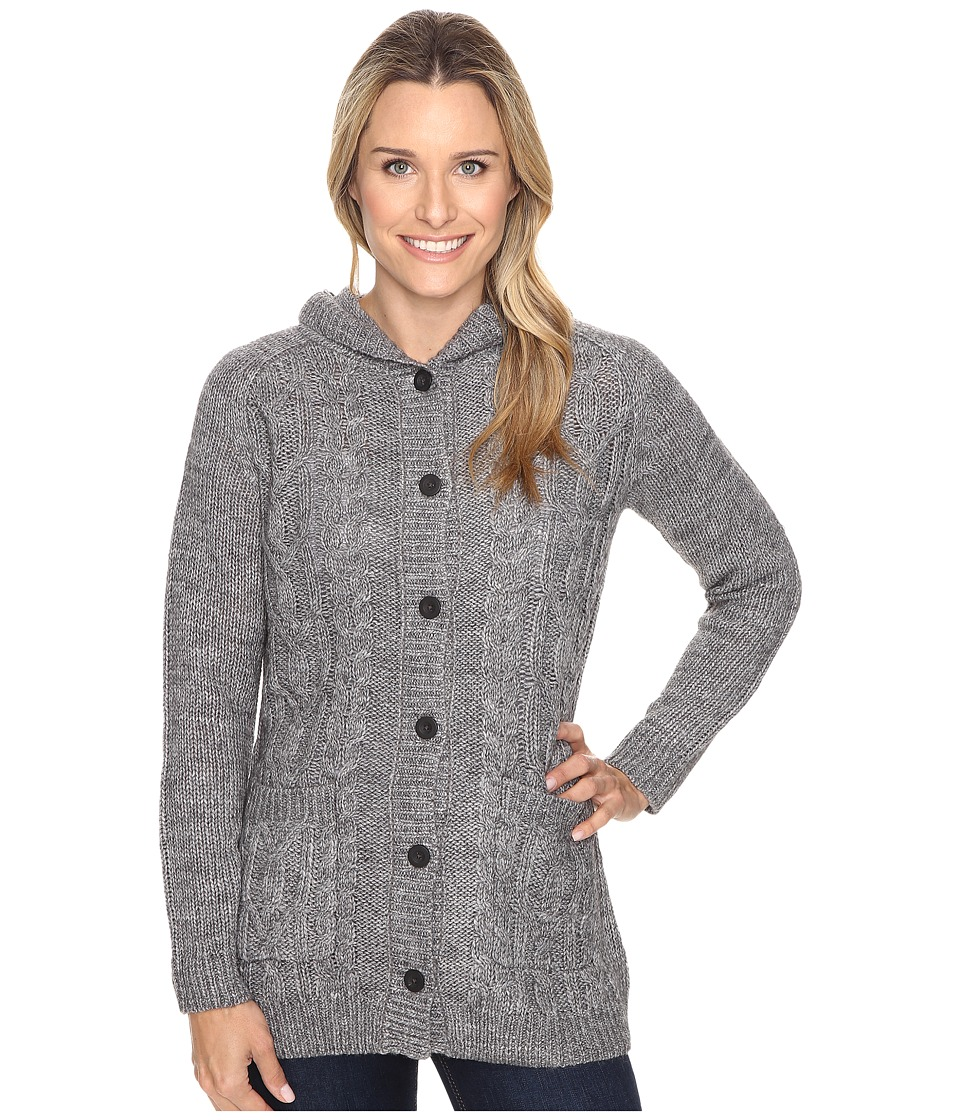 Royal Robbins - Ahwahnee Hooded Cardi (Charcoal) Women's Sweater
