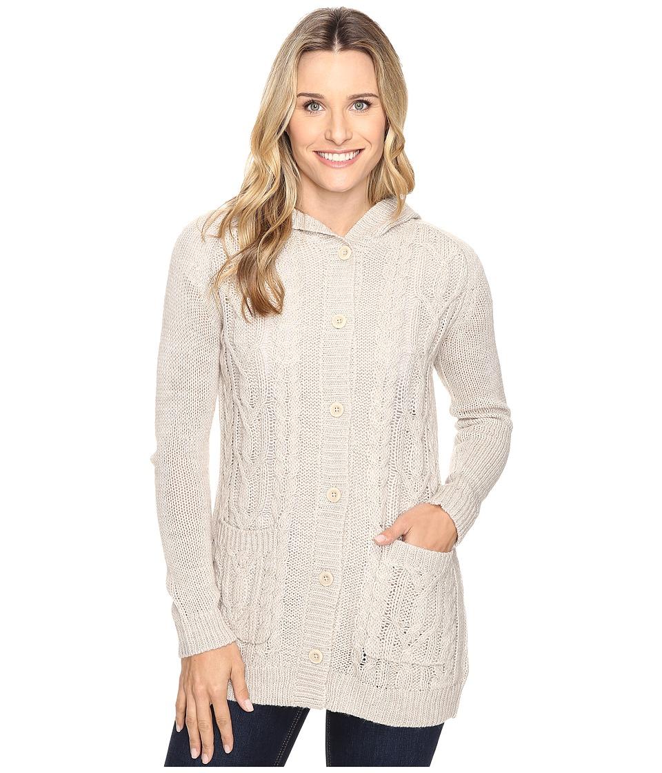 Royal Robbins - Ahwahnee Hooded Cardi (Light Khaki) Women's Sweater