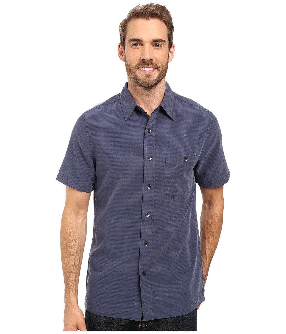 Royal Robbins - Mojave Desert Pucker S/S (Navy) Men's Short Sleeve Button Up