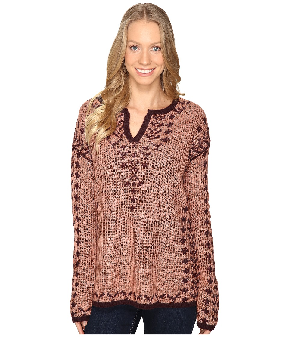 Royal Robbins - Autumn Pine Pullover (Pale Coral) Women's Long Sleeve Pullover