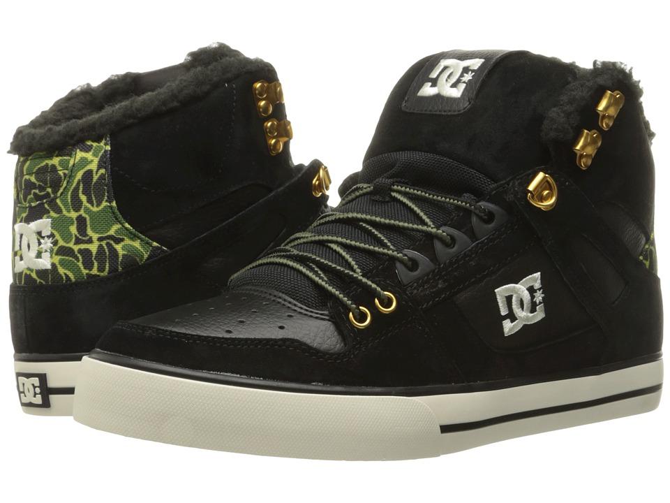 DC - Spartan High WC WNT (Black Camo) Men's Shoes
