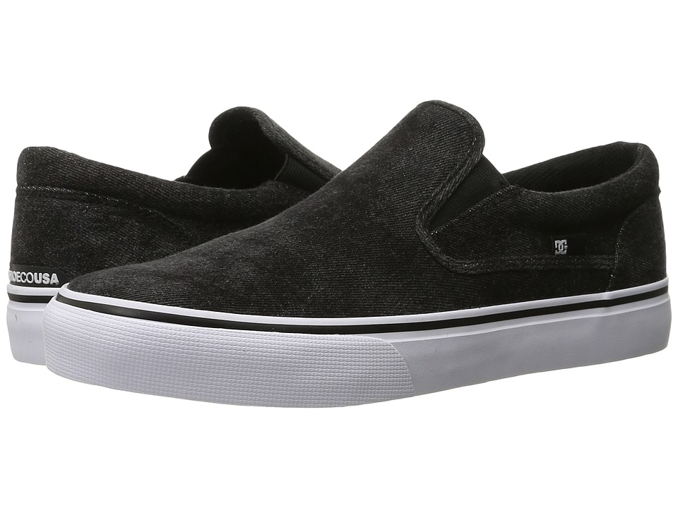 DC Trase Slip-On TX LE (Washed Out Black) Men