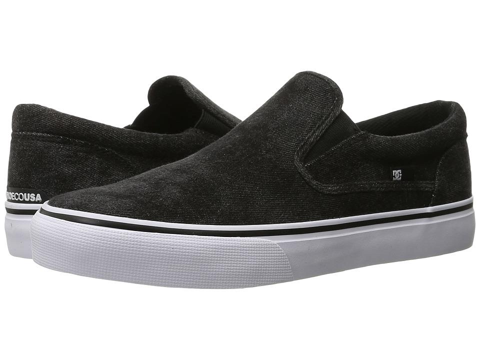 DC - Trase Slip-On TX LE (Washed Out Black) Men's Skate Shoes