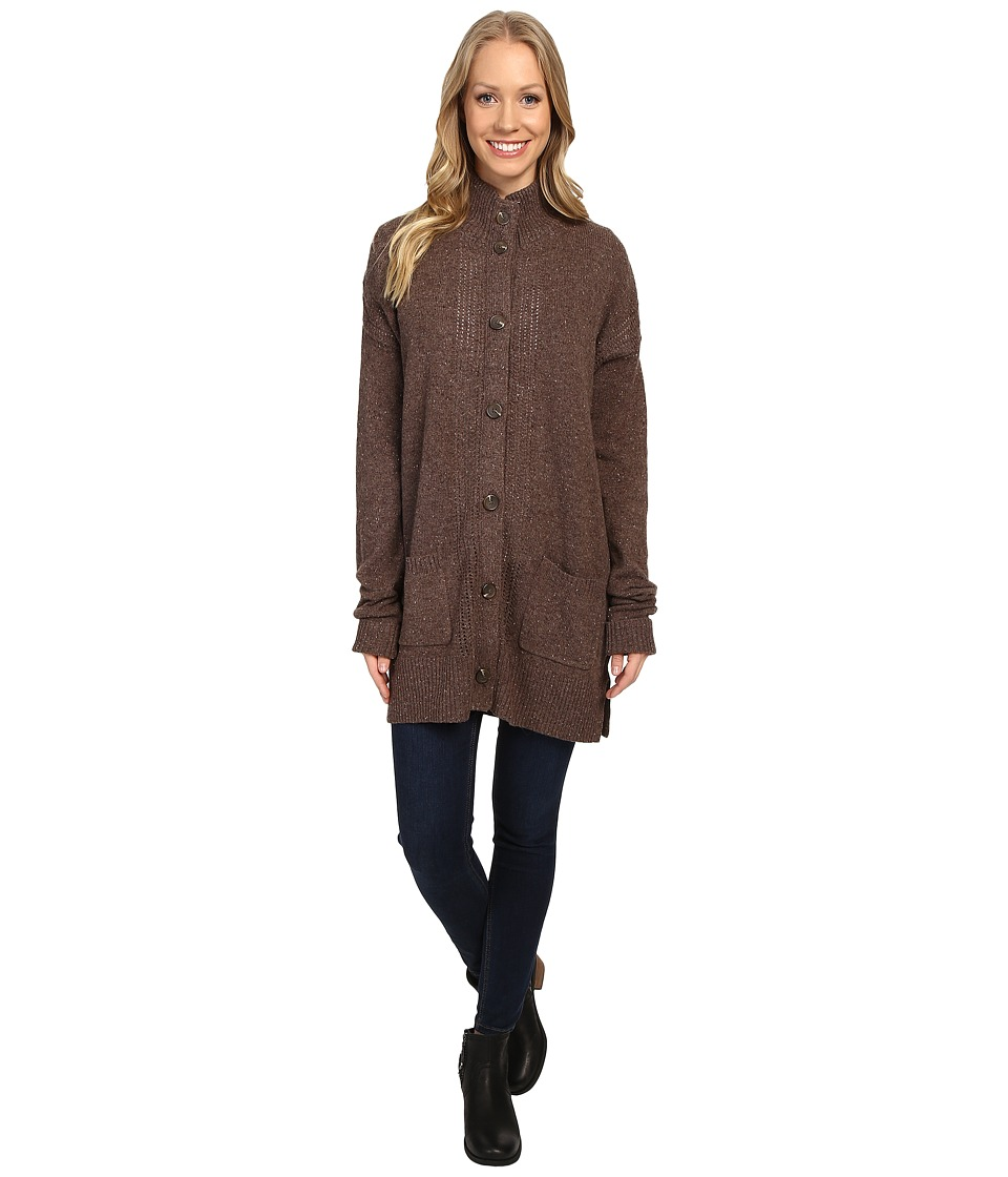 Royal Robbins - First Fleet Sweater Coat (Java) Women's Coat