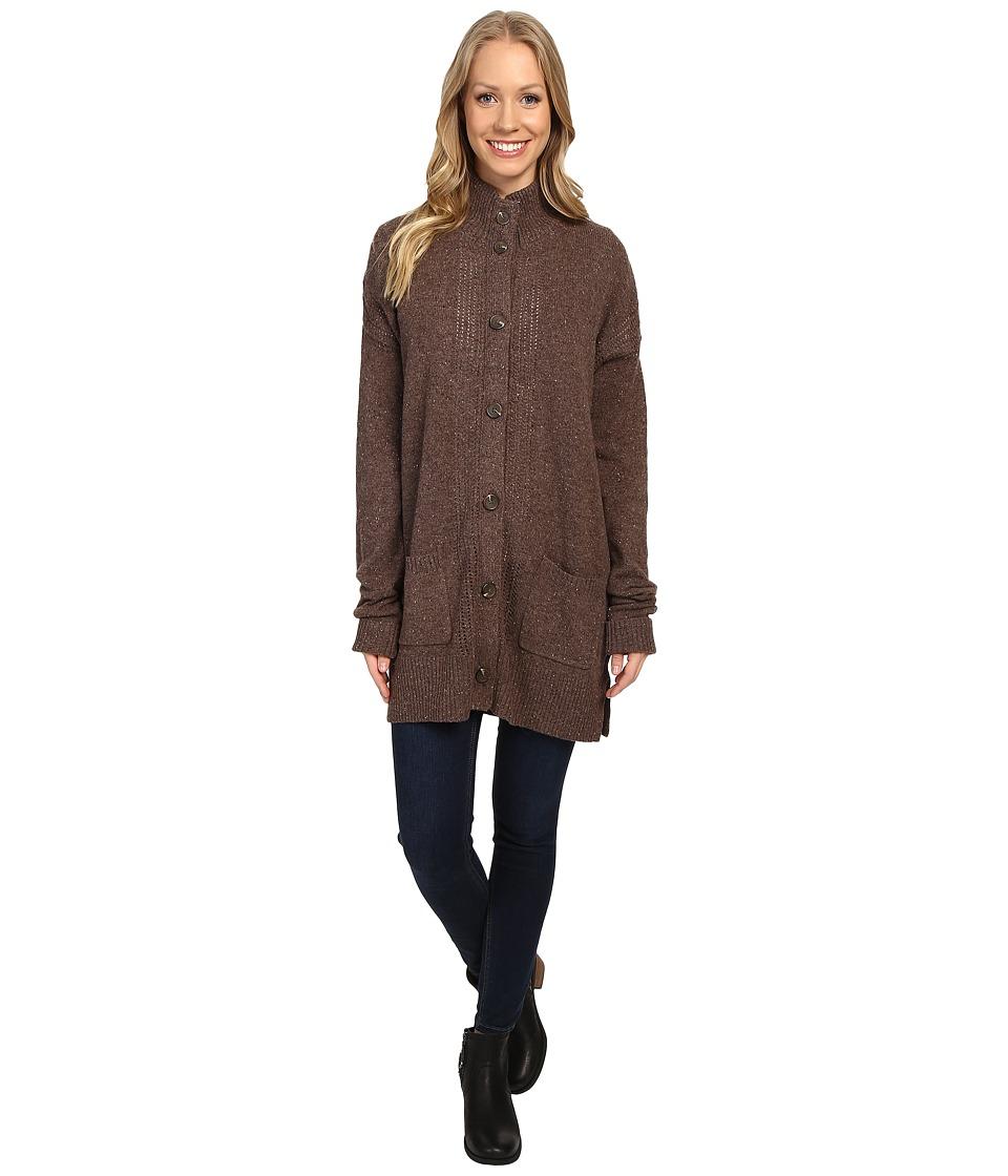 Royal Robbins - First Fleet Sweater Coat (Java) Women's Coat