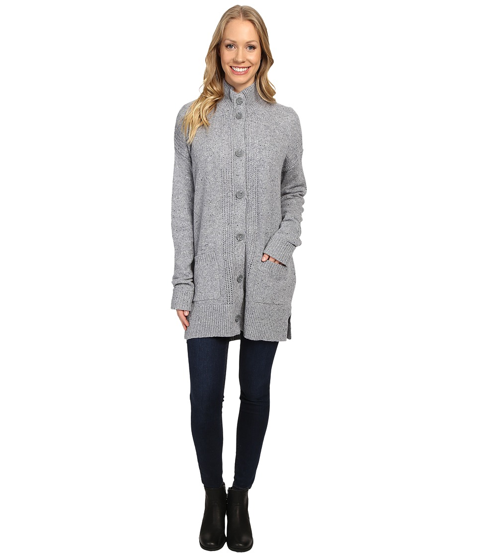 Royal Robbins - First Fleet Sweater Coat (Pewter) Women's Coat