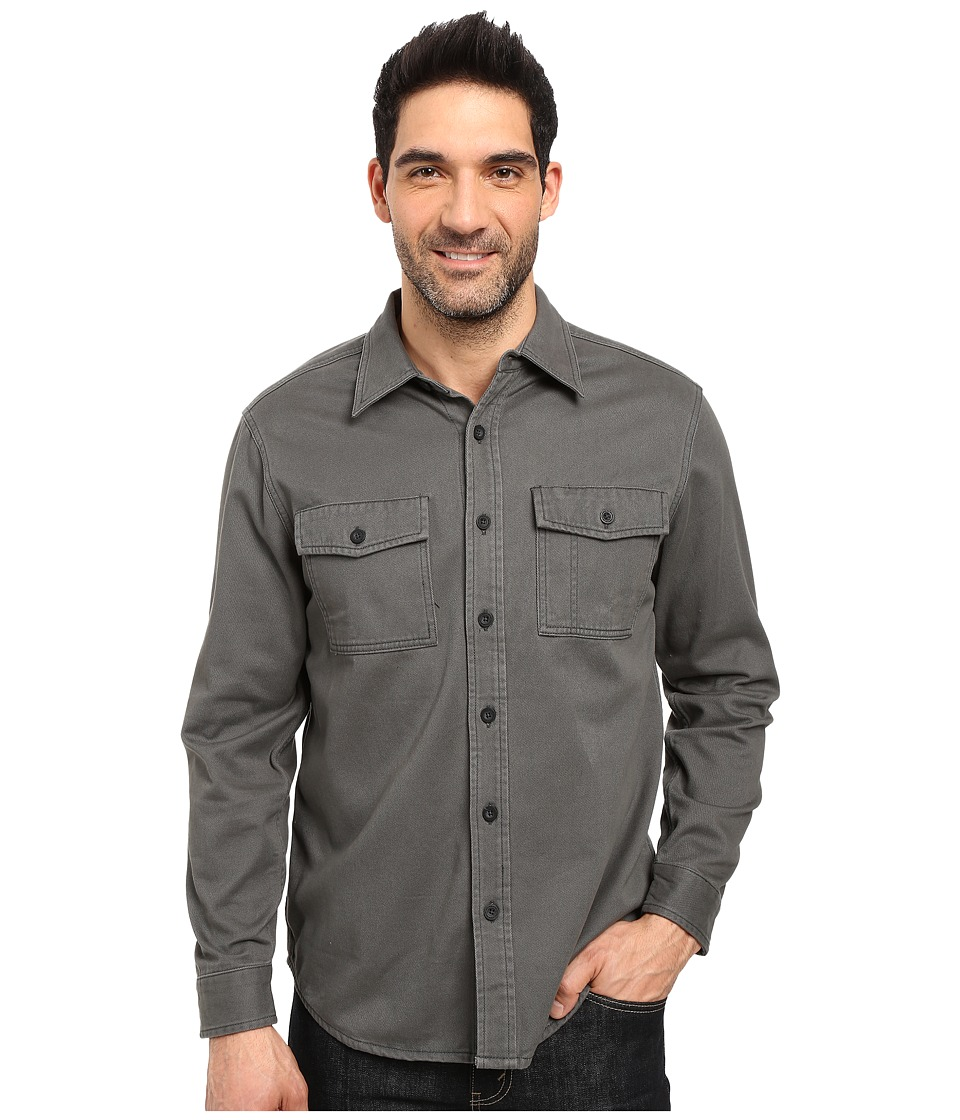 Royal Robbins - Brushed Back Twill Work Shirt (Obsidian) Men's Long Sleeve Button Up