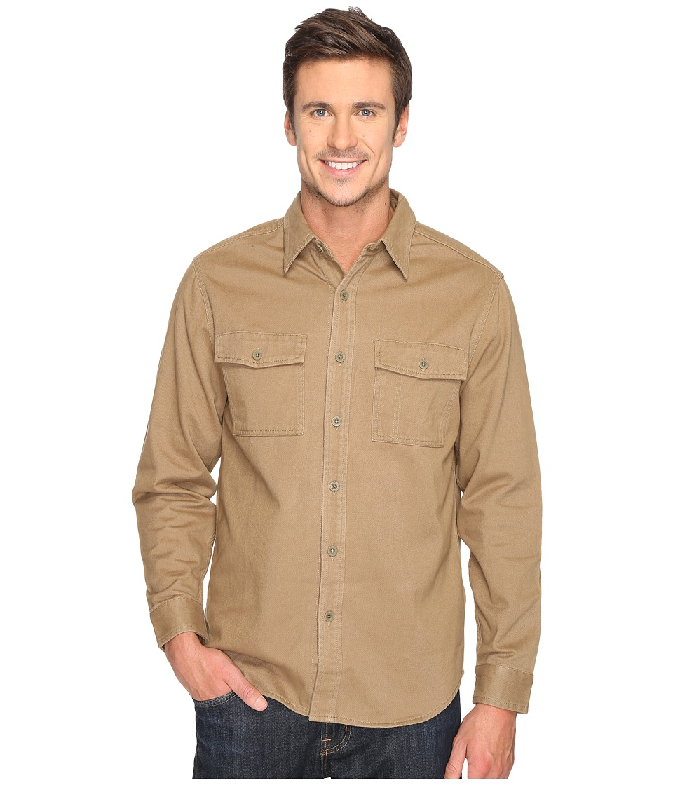 Royal Robbins - Brushed Back Twill Work Shirt (Cocoa) Men's Long Sleeve Button Up