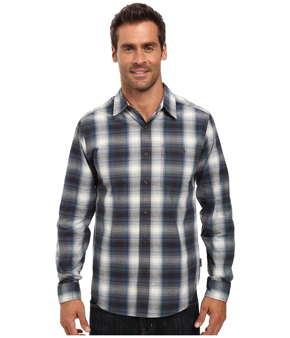 Royal Robbins - Galen Cotton Long Sleeve Shirt (Phoenix Blue) Men's Long Sleeve Button Up
