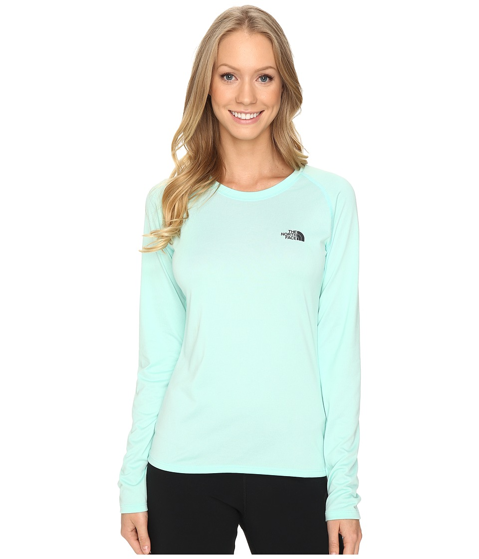 The North Face - Long Sleeve LFC Reaxion Amp Tee (Ice Green/Asphalt Grey) Women's Long Sleeve Pullover