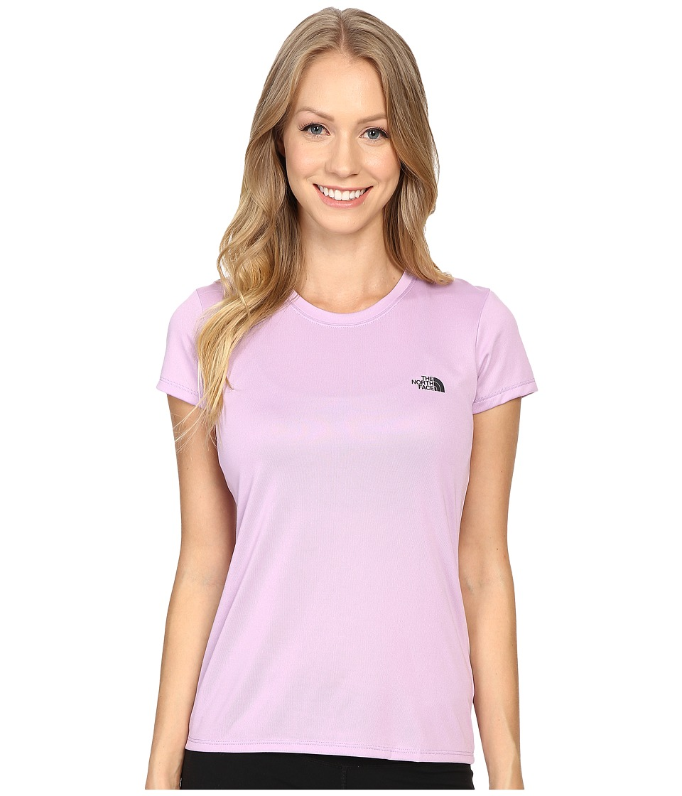 The North Face - Short Sleeve Reaxion Amp Tee (Lupine/Asphalt Grey) Women's T Shirt