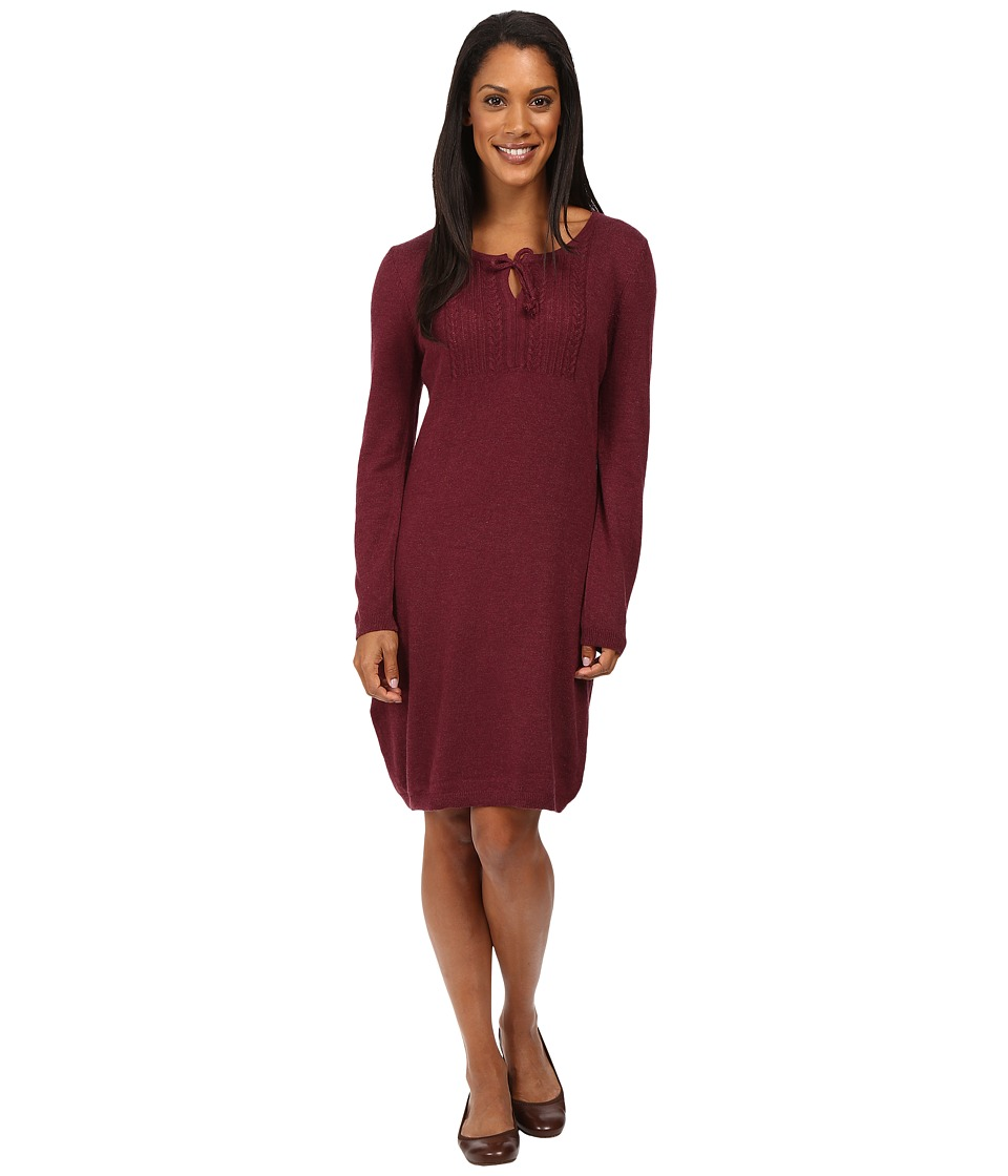 Royal Robbins - First Light Sweater Dress (Beet) Women's Dress