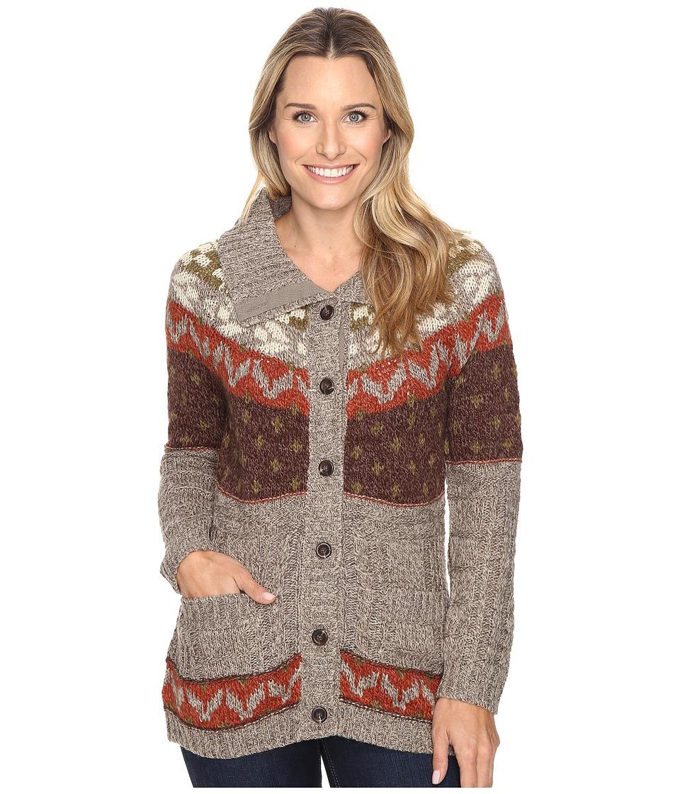 Royal Robbins - Mystic Button Cardigan (Light Taupe) Women's Sweater