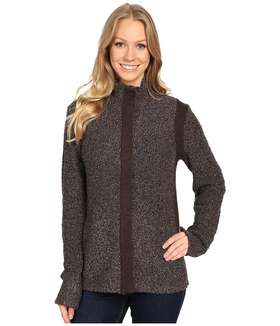 Royal Robbins - Bella Boucl Zip Cardigan (Java) Women's Sweater