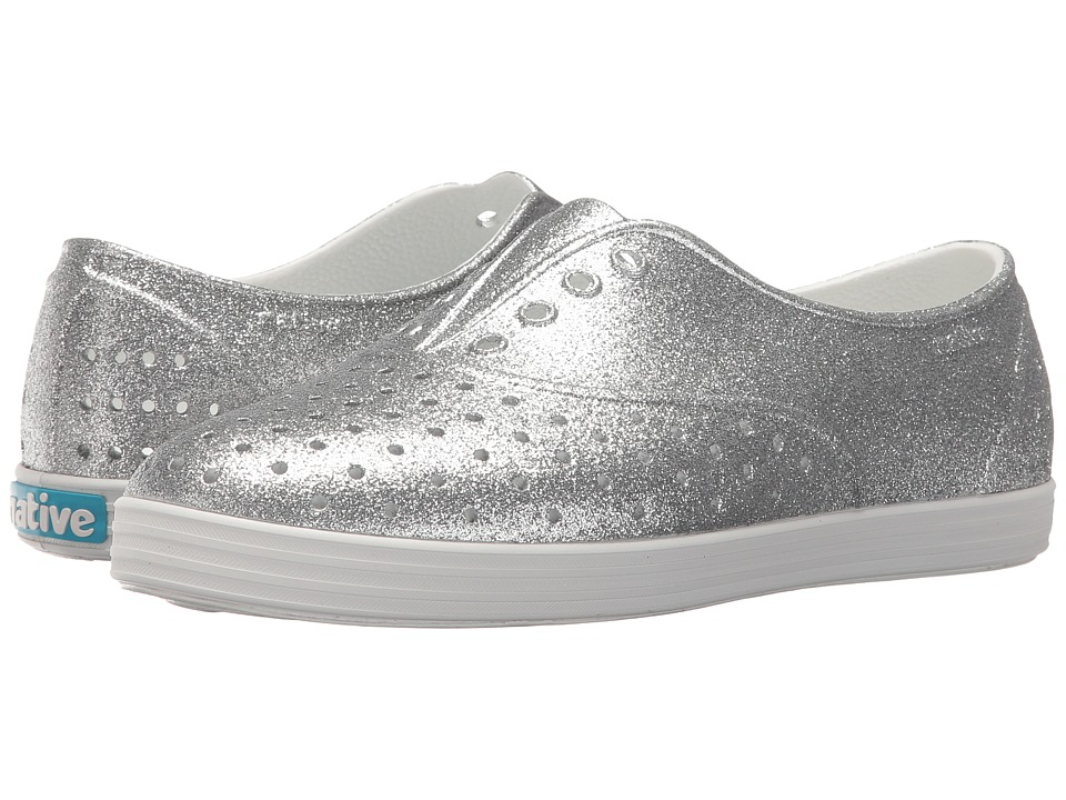 Native Shoes - Jericho Bling (Silver Bling/Shell White) Women's Slip on Shoes