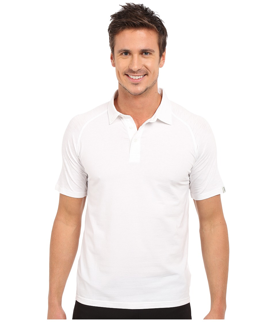 tasc Performance - Jackson Polo (White) Men's Clothing