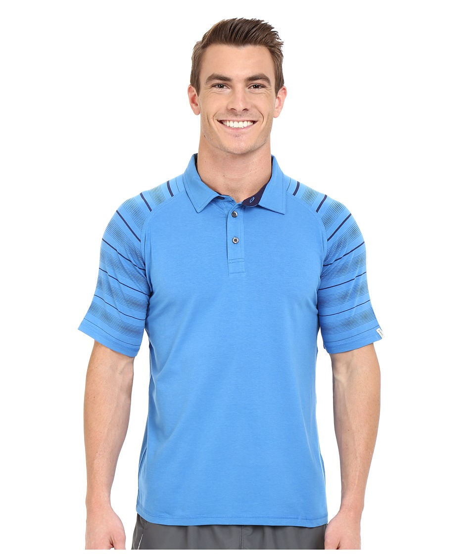 tasc Performance - Jackson Polo Print (Cadet/True Navy Urban Stripe) Men's Clothing