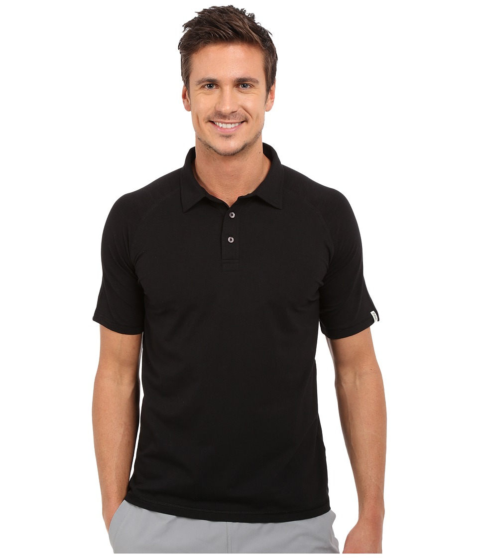 tasc Performance - Jackson Polo (Black) Men's Clothing