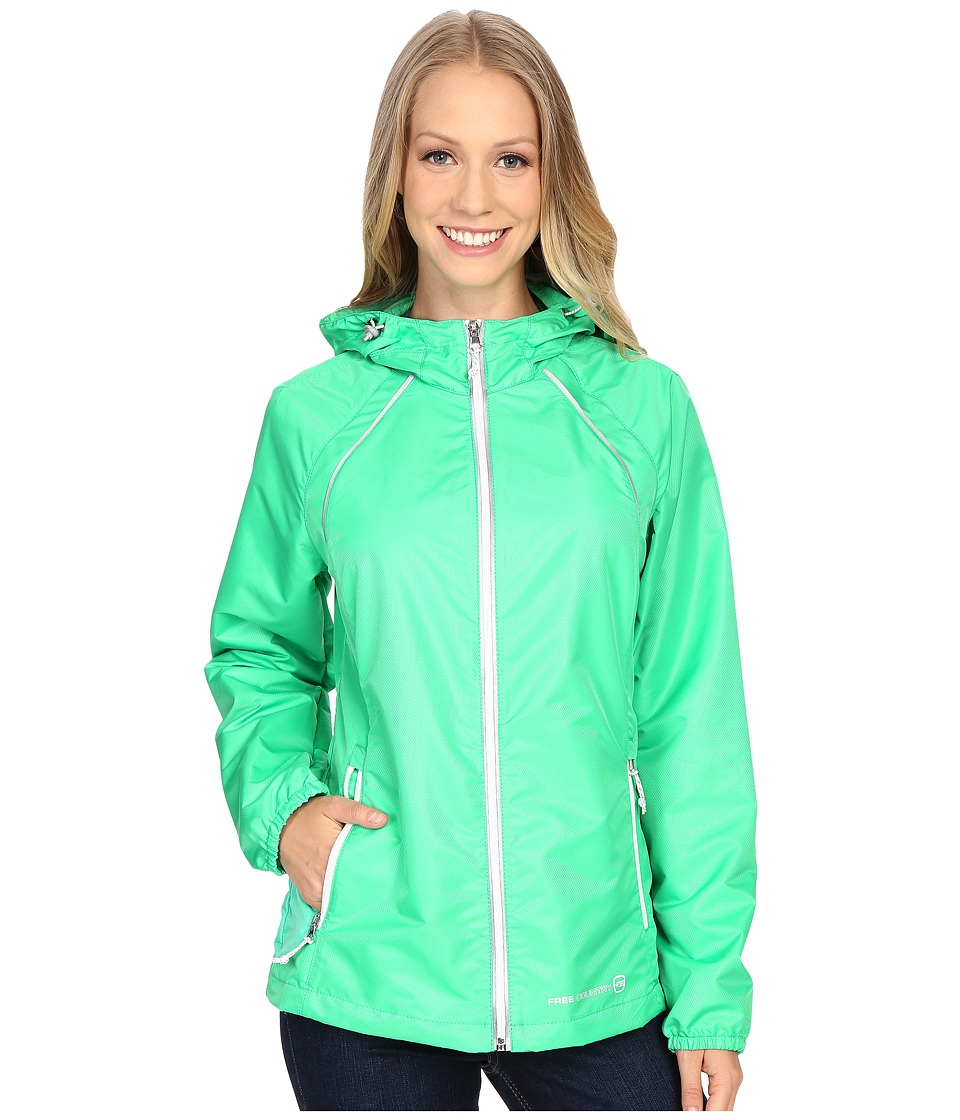 Free Country - Net Dobby Packable Jacket (Palm Green/White) Women's Coat