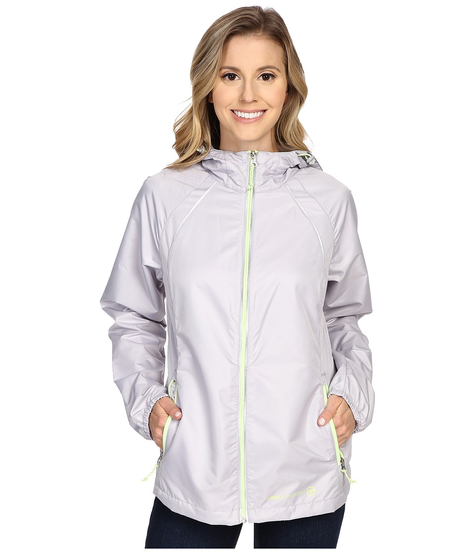 Free Country - Net Dobby Packable Jacket (Shell Grey/Melon) Women's Coat