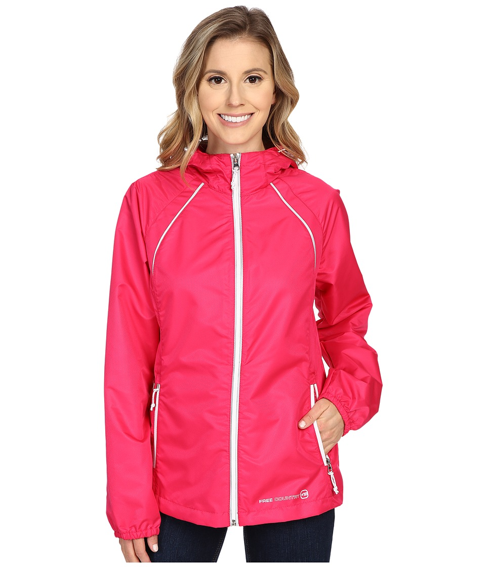 Free Country - Net Dobby Packable Jacket (Berry/White) Women's Coat