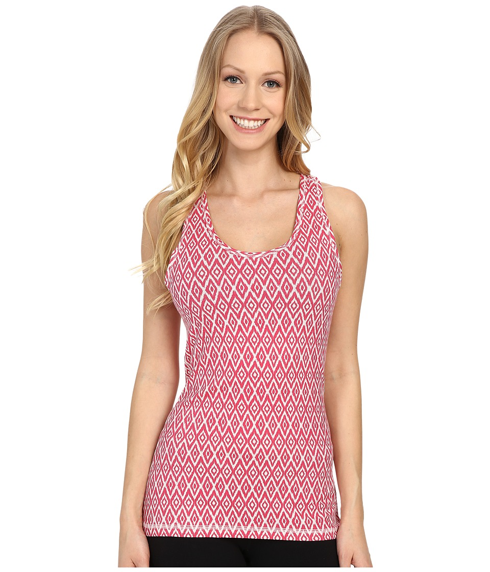 tasc Performance - Core Racer Print (Ash Heather/Flamingo Micro Ikat) Women's Clothing