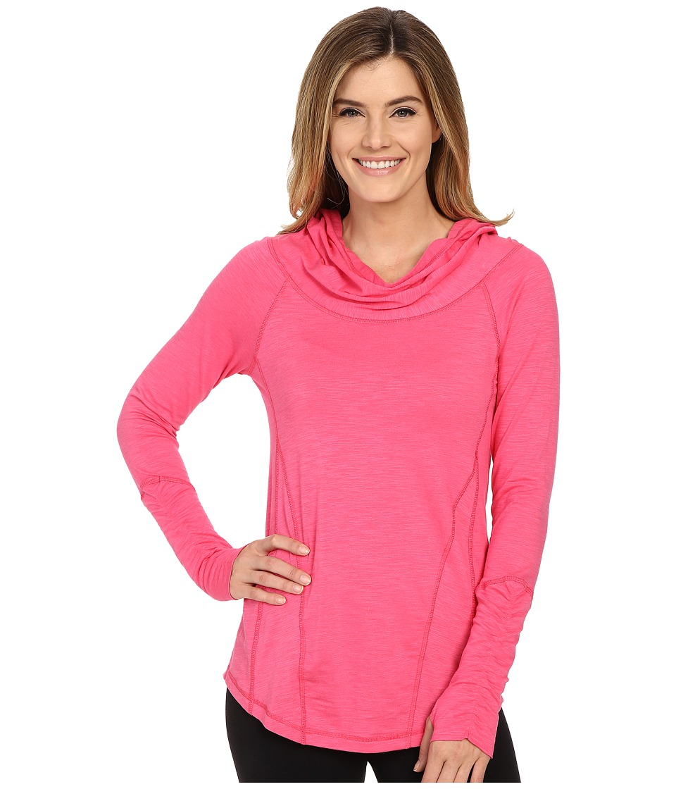 tasc Performance - Pizzazz Slubbed Hoodie (Flamingo) Women's Sweatshirt