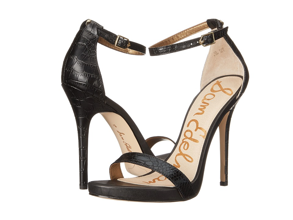 Sam Edelman - Eleanor (Black Boa Print) High Heels