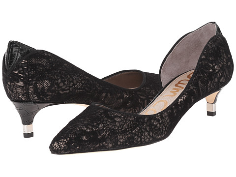 Sam Edelman - Linda (Black Silk Velvet Lace) Women