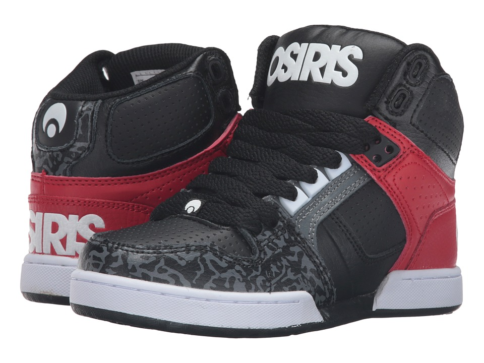 Osiris - NYC 83 (Little Kid/Big Kid) (Black/White/Grey) Men's Skate Shoes