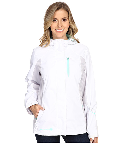 Free Country - Multiripstop Jacket (White/Shell Grey/Ice Green) Women's Coat