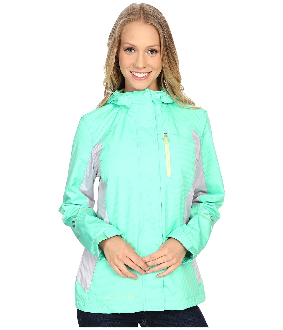 Free Country - Multiripstop Jacket (Seafoam/Shell Grey/Melon) Women's Coat