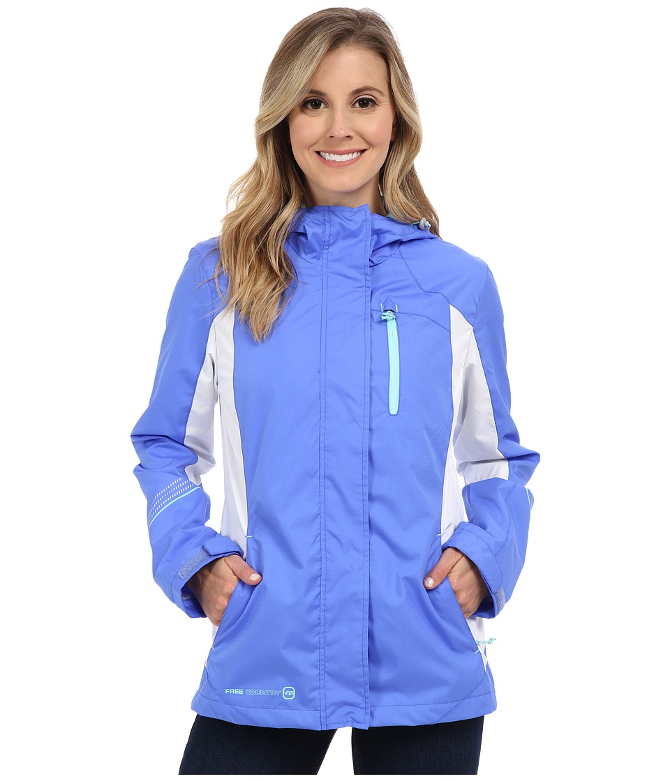 Free Country - Multiripstop Jacket (Peri Mist/White/Whisper Blue) Women's Coat