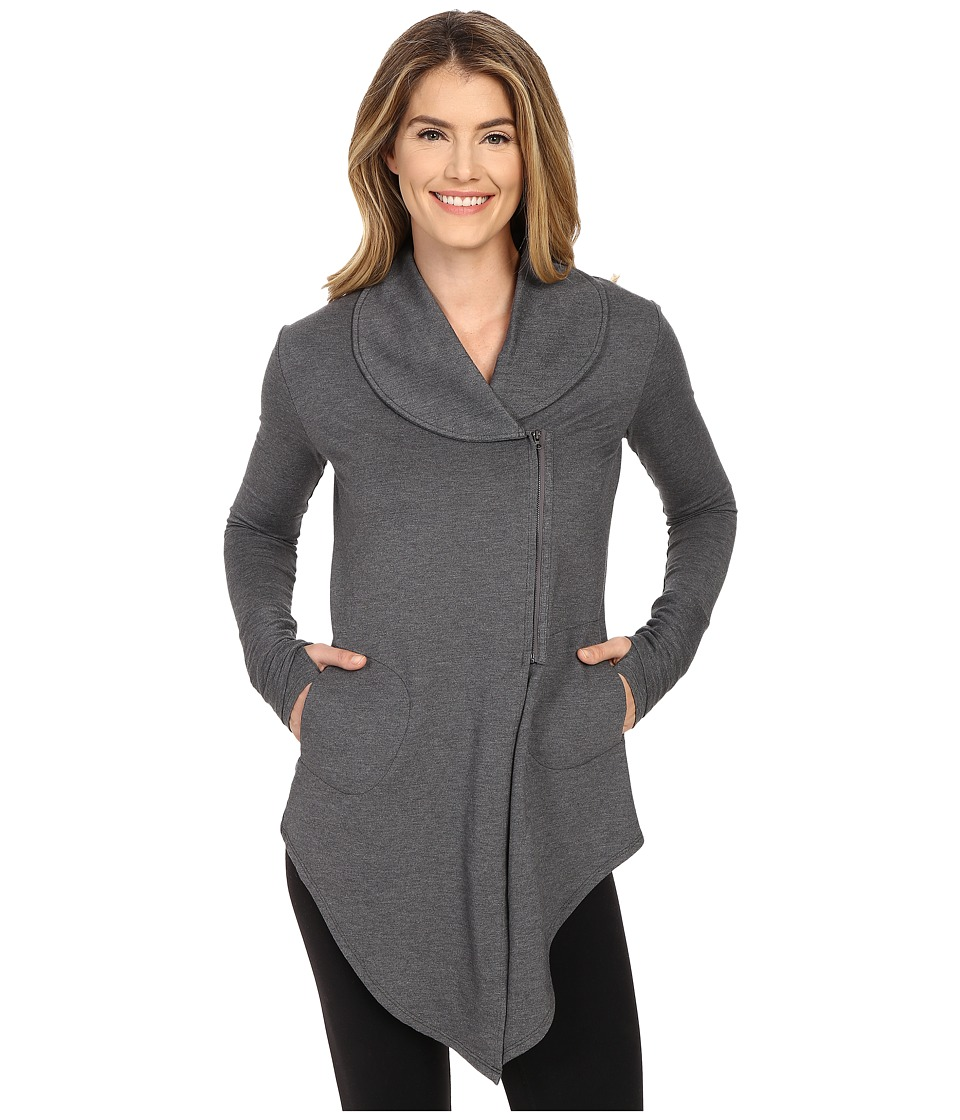 tasc Performance - Road Trip French Terry Jacket (Black Heather) Women's Coat