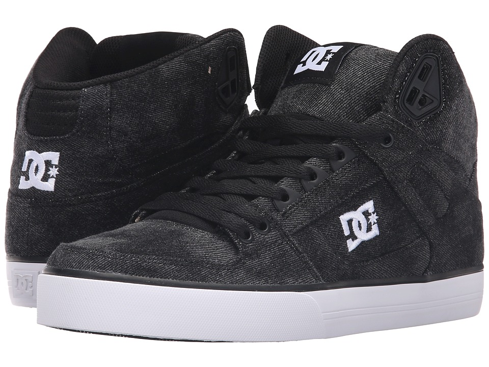 DC - Spartan High WC TX SE (Black Acid) Men's Skate Shoes