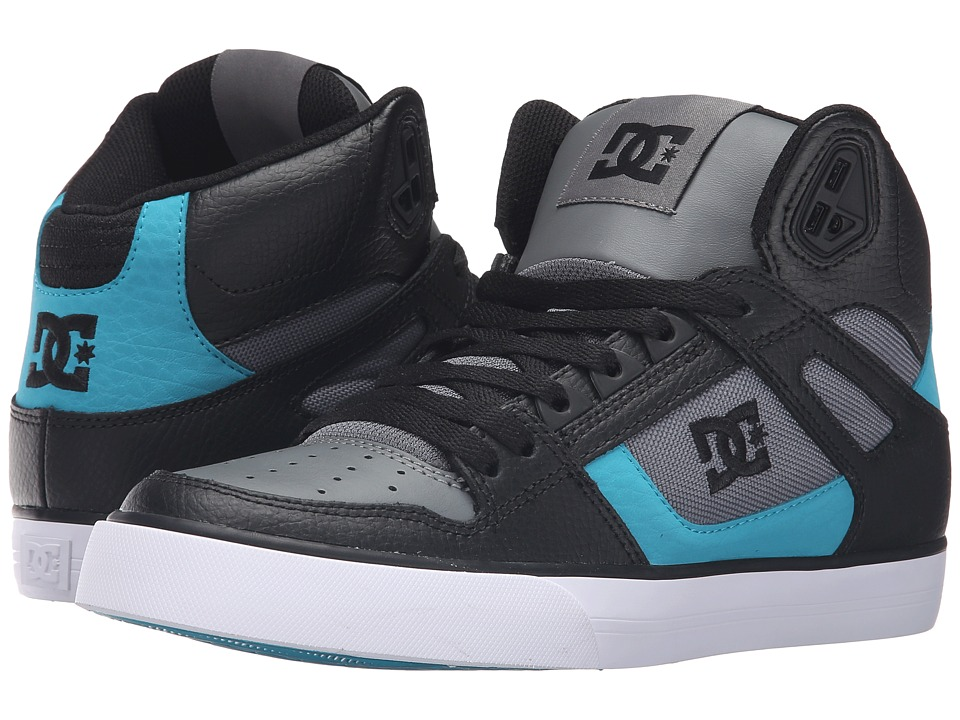 DC - Spartan High WC (Black/Armor/Turquoise) Men's Shoes
