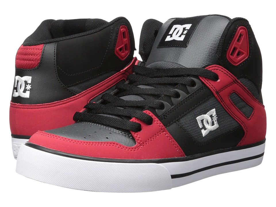 DC - Spartan High WC (Red/Grey/Black) Men's Shoes