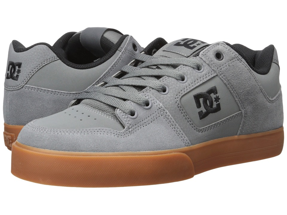 DC - Pure (Grey/Gum) Men's Skate Shoes