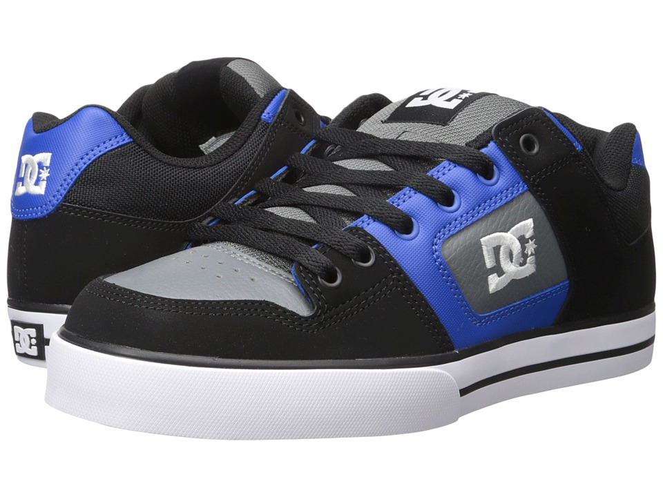 DC - Pure (Black/Blue/Grey) Men's Skate Shoes