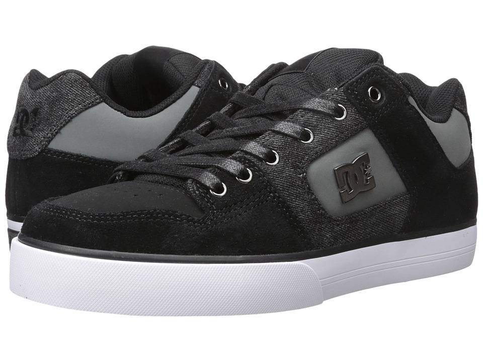 DC - Pure SE (Black Destroy Wash) Men's Skate Shoes