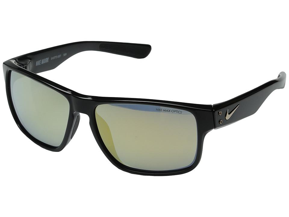 Nike - Nike Mavrk R (Black/Gold) Sport Sunglasses