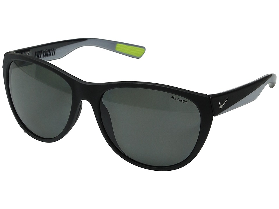 Nike - Compel P (Matte Black/Silver) Athletic Performance Sport Sunglasses