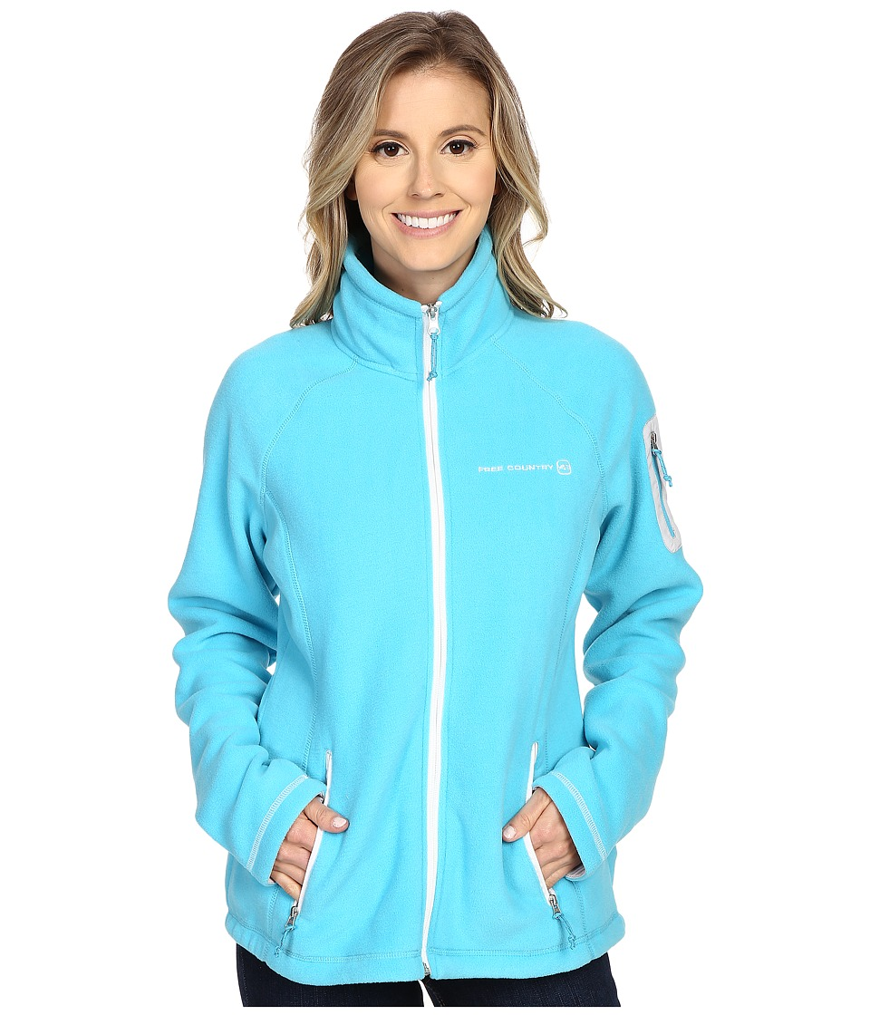 Free Country - Micro Fleece Jacket (Active Blue) Women's Coat