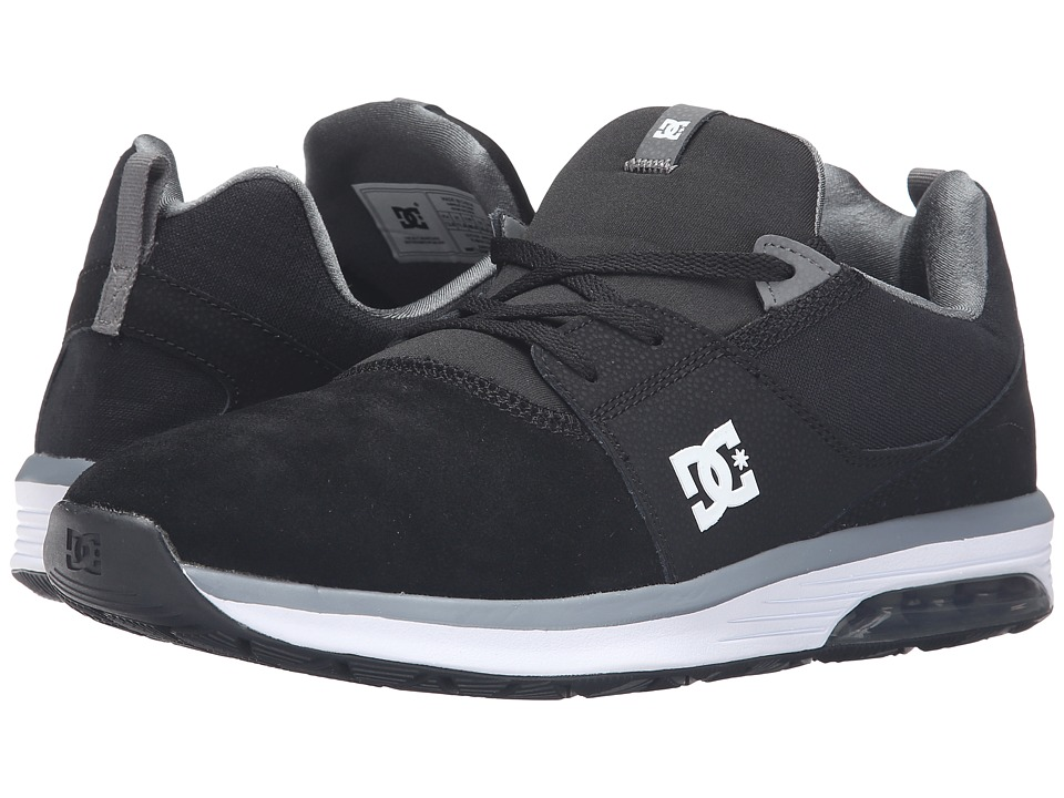 DC - Heathrow IA (Black/Grey/White) Men's Skate Shoes