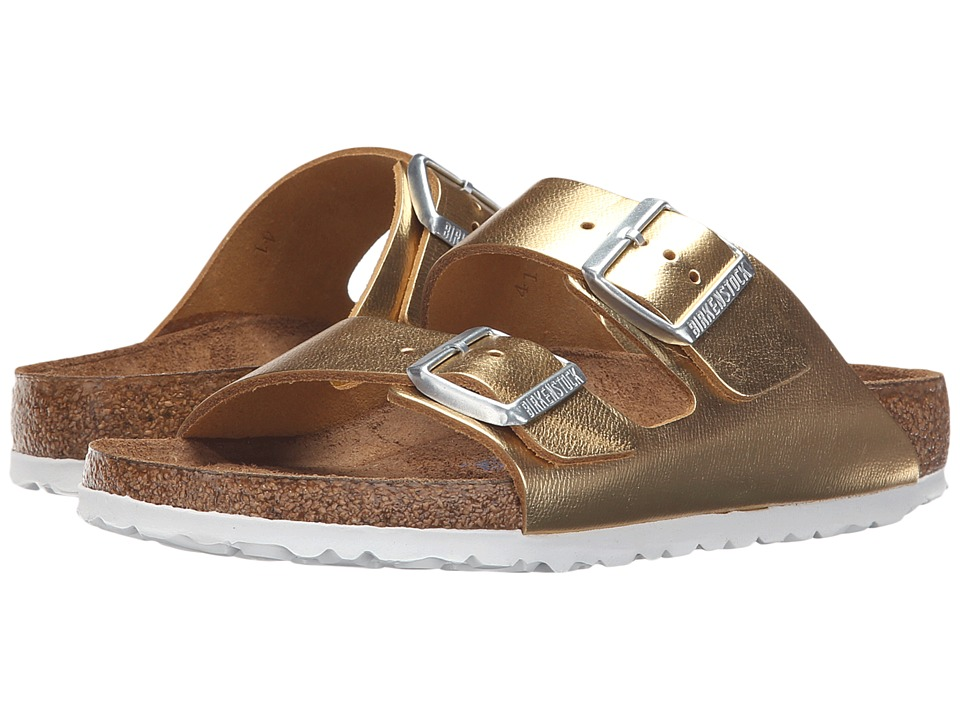 Birkenstock - Arizona Soft Footbed (Gold Metallic) Women's Dress Sandals