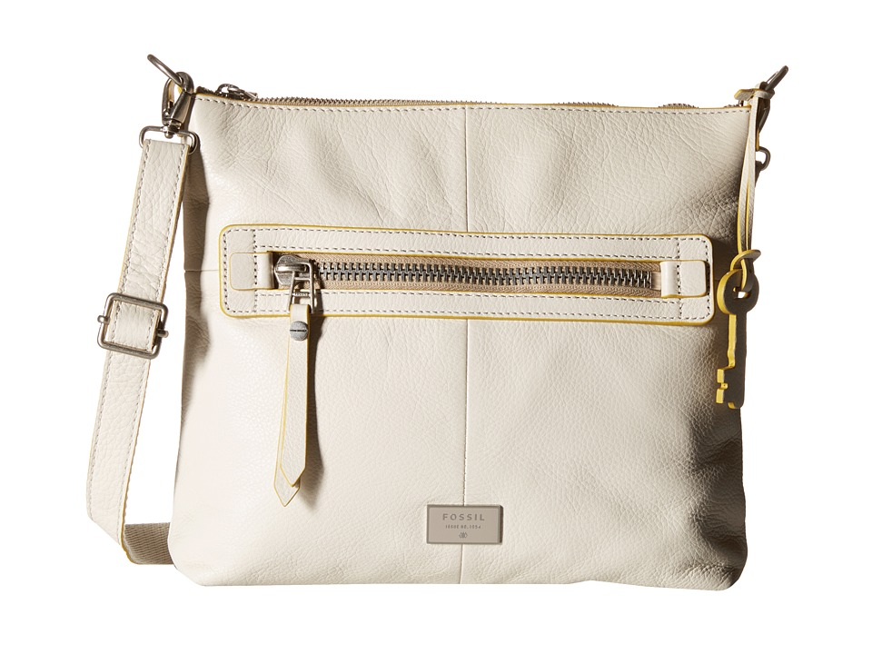 Fossil - Dawson Top Zip (Vanilla) Top-Zip Handbags