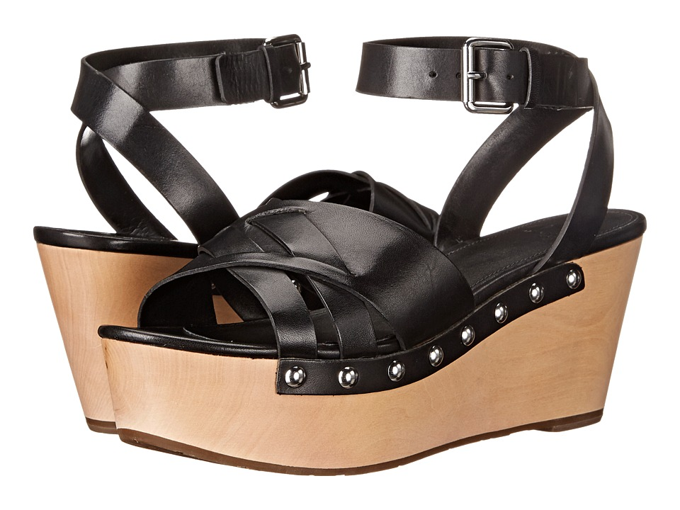 Marc Fisher LTD - Camilla (Black Leather) Women's Sandals