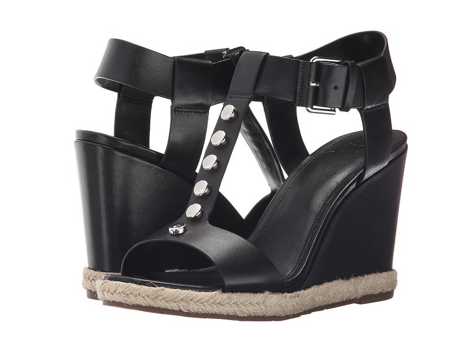 Marc Fisher LTD - Kellie (Black Leather) Women's Wedge Shoes